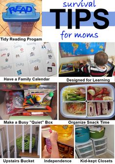 Creating zones and spaces such as these will be extremely helpful for Mom and for family members when it comes to teamwork for retrieving and putting things away. As the kiddos get older they can participate in keeping these zones organized, too!