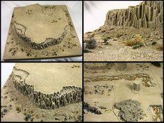 desert mesa - miniatures terrain diorama