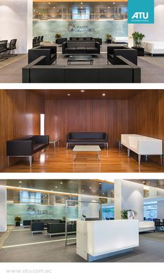 Banco de Guayaquil: Modernity, 25 workstations spread between headquarters and customer service. Waiting rooms to provide comfort to customers.