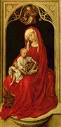 Madonna And Child Metal Print by van der Weyden Rogier. All metal prints are professionally printed, packaged, and shipped within 3 - 4 business days and delivered ready-to-hang on your wall. Jan Van Eyck, Catholic Art, Religious Art, Hans Holbein, Madonna And Child, Oil Painting Reproductions, Hand Painting Art, Sacred Art, Christian Art