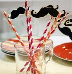 Mustache Party Straws — craftbits.com