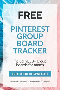 If you want to join Pinterest Group Boards to grow your Pinterest traffic and grow your followers, get this Free Pinterest Board Tracker with +50 Boards. #pinterestmarketing #bloggingtips #socialmediatips