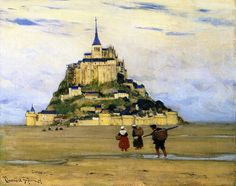 Mont-Saint-Michel, Morning , 1907 , by Clarence Gagnon Follow the biggest painting board on Pinterest: www.pinterest.com/atelierbeauvoir