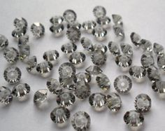 swarovski crystal beads in greige