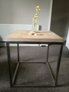 Bloks dining table - Ply & stainless steel