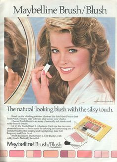 Vintage early 80's Maybelline Blush ad
