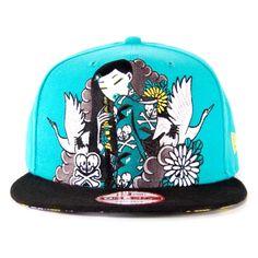 Tokidoki Mosca Via Snapback Hat in Aqua