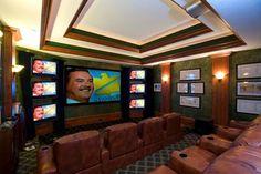 Park City, Utah Mountain Estate by Markay Johnson Construction traditional media room