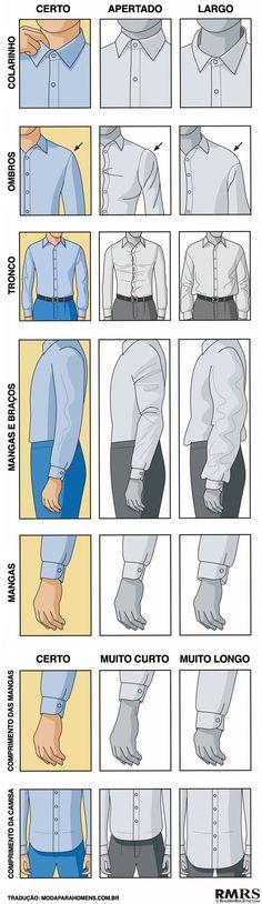 Como uma camisa deve ficar no seu corpo