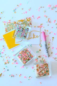 DIY Confetti Paperweights   The Confetti Bar
