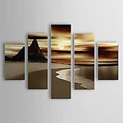 Hand Painted Oil Painting Landscape Beach and... – USD $ 159.99