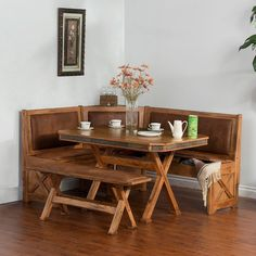 The casual chic Sunny Designs Sedona 4 Piece Breakfast Nook Set with Side Bench offers guests a warm welcome to your home. This breakfast nook set includes. Kitchen Dining Sets, Dining Nook, Kitchen Nook, Dining Room Sets, Dining Room Chairs, Dining Furniture, Furniture Nyc, Cheap Furniture, Bedroom Furniture