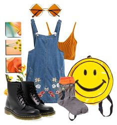 n a r a n j i t a by barr4cuda on Polyvore, featuring moda, Chicnova Fashion, HOT SOX, Dr. Martens, Retro and vintage! orange and black cute clothes! check out his account!