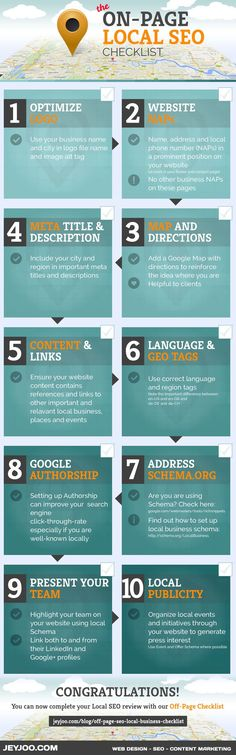 On-Page Local SEO: 10 Tips To Improve Your Local SEO [Infographic] #seo #marketingonline