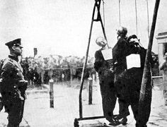 Public execution before Jews are deported to concentration camps