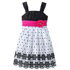 My Michelle Dot and Eyelet Dress - Girls Plus