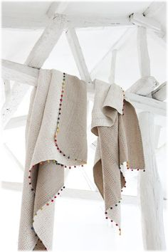 Vivaraise. 100% cotton - hand guided sewing - reversible www.idyllhome.co.uk