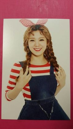 ORANGE CARAMEL LIZZY #2 Official Photo Card 4th My CopyCat AFTERSCHOOL Photocard