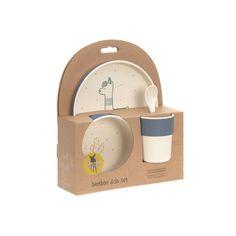 Sippy Cup with Bamboo Glama Lama blau L/ÄSSIG Kinder Becher mit Bambus nachhaltig Trinklernbecher Schnabeltasse mit Henkeln Kindergeschirr mit Bambus
