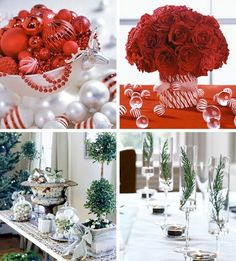 Arrangements can be made of just about anything. Flowers, christmas ornaments, candy, beads and bobbles. :-)