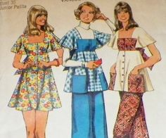 UNCUT Sewing Pattern  Peasant Mod Vintage by hookandneedlepattern, $8.00