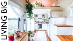 This tiny house contains a walk-in wardrobe under the second loft (as well as a bathroom). The loft is two different levels! Tiny House Luxury, Small Tiny House, Best Tiny House, Tiny House Living, Tiny House On Wheels, Small Room Design, Tiny House Design, Home Design, Design Ideas