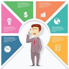 template infográfico negócios Vetor grátis