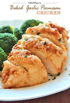 Baked Garlic Parmesan Chicken is perfect for dinner tonight!