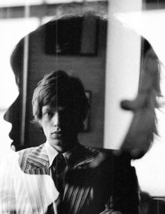 rolling stones | famous | amazing | timeless | star | black & white | vintage | double | glass | reflection