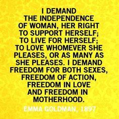 Emma Goldman, 1897 ... et rien n'a changé.