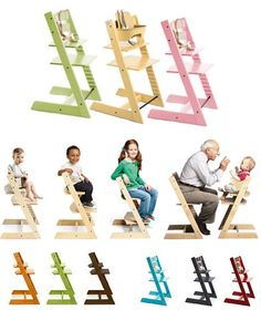 Beautiful simple Tripp Trapp chair design for all ages.