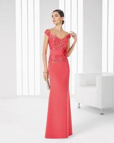 9T196 Vestido de Cocktail de Rosa Clará 2016