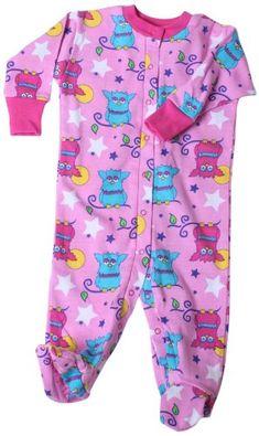 New Jammies Baby-Girls Newborn Snap Front Footie Romper, Starry Night Owls, 6 Months - Pajamas - Footies - Apparel - $27.00