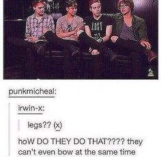 Michael, why is the knee of your jeans not ripped? I'm a little disappointed mister!