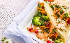 Crepa vegana con salsa de jocoque y chipotle