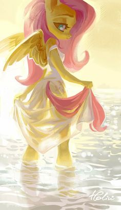 Fluttershy [as a partial human] (Drawing by Holivi My Little Pony Comic, My Little Pony Pictures, Mlp My Little Pony, Hard Drawings, My Little Pony Wallpaper, Anime Drawing Styles, Little Poni, Mlp Fan Art, Mlp Pony