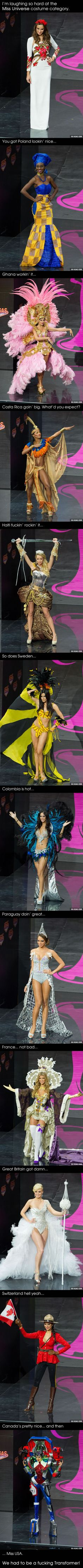 You will laugh hard at the miss universe costume category