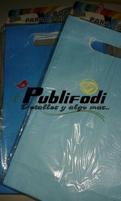 Bolsas de papel tono azul