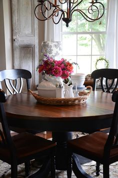 Here are the Dining Room Round Table Design Ideas. This post about Dining Room Round Table Design Ideas was posted under the Furniture category by our team at March 2019 at pm. Hope you enjoy it and don't . Dining Room Centerpiece, Dining Room Table Centerpieces, Table Decorations, Centerpiece Ideas, Everyday Centerpiece, Table Arrangements, Dining Nook, Round Dining Table, Small Round Kitchen Table