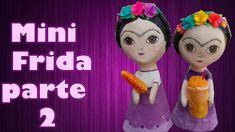 segunda parte de mini Fridas de papel mache Disney Characters, Mini, Parts Of The Mass, Paper Envelopes, Disney Face Characters