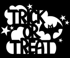 Halloween Trick-or-Treat Stencil for Pumpkin Carving - Free Download                                                                                                                                                                                 More