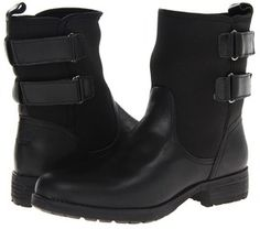 DKNY - Nayla (Black Leather/Neoprene W/Thinsulate) - Footwear on shopstyle.com