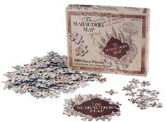 Marauder's Map Puzzle Wizarding World Harry Potter Universal Studios Diagon Alley 18 x 24 300 Pieces $32.95