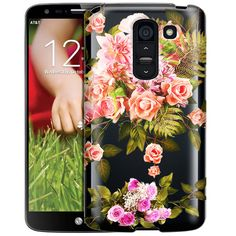 LG G2 Floral Rose Garden Clear Case