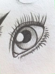 Klicke um das bild zu sehen ojos a lapiz en 2019 art sketches, drawings y p Easy Eye Drawing, Realistic Eye Drawing, Eye Drawing Tutorials, Eye Sketch Easy, Drawing Techniques, How To Sketch Eyes, How To Draw Eyes, Things To Sketch, Learn To Draw Anime