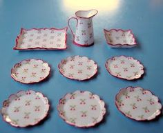 miniature - how to: card stock dishes