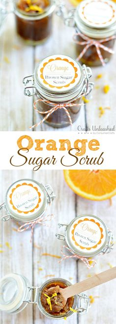 Orange & Brown Sugar Scrub Recipe from @Crystal A Pumpkin & A Princess