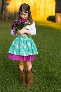 Daphne's Double Skirt . PDF sewing pattern toddler girl sizes 2t-12