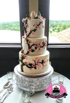 Totoros Cherry Blossom Wedding - Cake by Cakes ROCK!!!