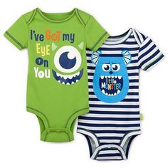 Disney® Monster's Inc. 2-pk. Bodysuits - Boys newborn-9m - jcpenney